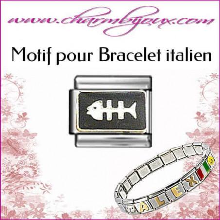 Motif Arête de poisson : Motif Italien pour bracelet italien en Inox
