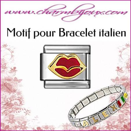 Motif Bouche : Motif Italien pour bracelet italien en Inox