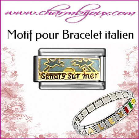 Maillon Sanary sur mer - Motif Italien pour bracelet italien en Acier