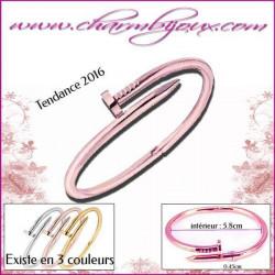 Bracelet forme Clou en Rosé - Bracelet femme