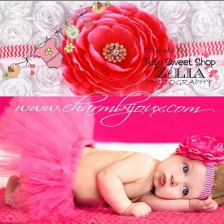 Tutu Fushia avec bandeau assorti pour Bebe - Pour Photographie naissance