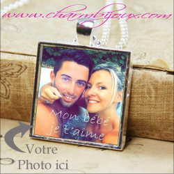 Collier photo bijou avec photo couleur