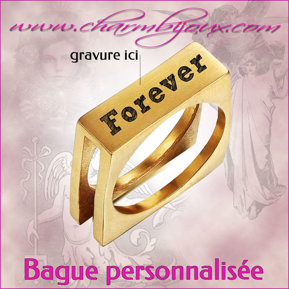 En Homme Avec Texte Gravure Prénom Pour Doré Bague A Personnaliser Acier JKclF3T1