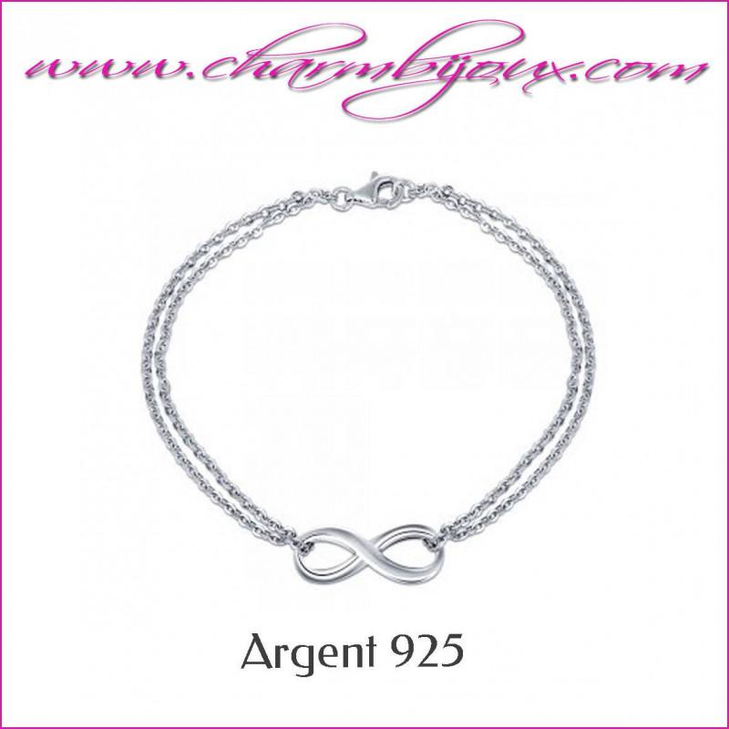 bracelet signe infini pour maman en argent bracelet amour ternel. Black Bedroom Furniture Sets. Home Design Ideas